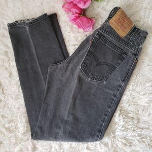 Levi's 550 Relaxed Fit Black High Waist Denim Jean
